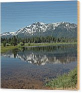 Tallac Reflections Wood Print
