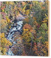 Tallulah River Gorge Wood Print by Susan Leggett