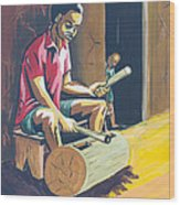 Tambour A Fente Wood Print