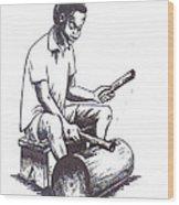 Tambourine Man Wood Print