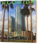 Tampa Florida Poster Work Number One Wood Print