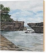 Tanah Lot Temple II Bali Indonesia Wood Print