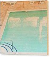 Tandem By The Pool Wood Print