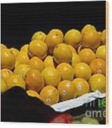 Tangerines For Sale Wood Print