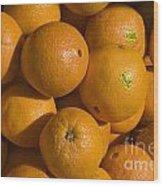 Tangerines Wood Print by Tim Mulina