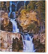 Tangle Falls At Dusk, Jasper National Wood Print