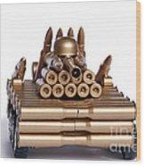 Tank From Shells Wood Print