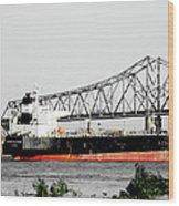 Tanker Baton Rouge Wood Print