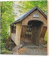 Tannery Hill Covered Bridge Wood Print