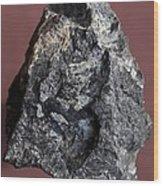 Tantalite Mineral Wood Print