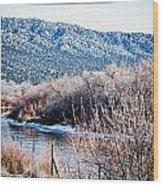 Taos Creek Wood Print