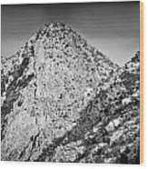 Taos Mountain 3 Wood Print by Lisa  Spencer