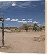 Taos Pueblo New Mexico Wood Print