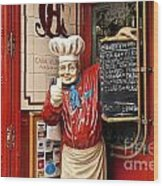 Tapas Restaurant Wood Print