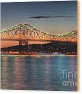 Tappan Zee Bridge Twilight I Wood Print