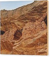 Target - Bulls Eye Anasazi Indian Ruins Wood Print