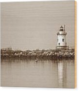 Tarrytown Lighthouse Wood Print
