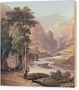 Tasmanian Gorge Wood Print