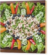 Tasty Chicken Salad Wood Print