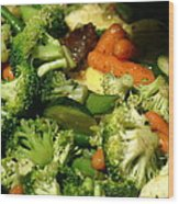 Tasty Veggie Stir Fry Wood Print