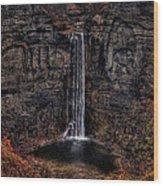Taughannok Falls II - Hdr Wood Print