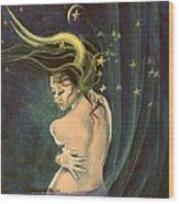 Taurus From Zodiac Series Wood Print
