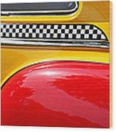 Taxi 1946 Desoto Detail Wood Print
