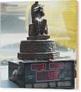 Taxi Meter Monk Wood Print
