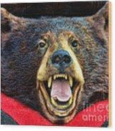 Taxidermy -  Black Bear Wood Print