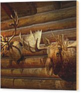 Taxidermy - The Hunting Lodge  Wood Print