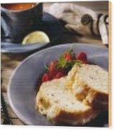 Tea And Cake Wood Print