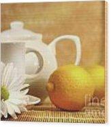 Tea And Lemon Wood Print