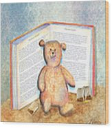 Tea Bag Teddy Wood Print