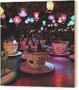 Tea Cups Wood Print