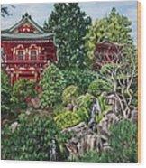 Tea Garden Wood Print