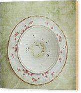 Tea Leaves Wood Print by Stephanie Frey