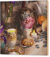 Tea Party - The Magic Of A Tea Party  Wood Print