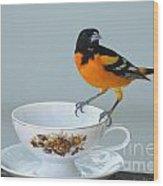 Tea Please Wood Print