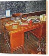 Teacher's Desk Wood Print