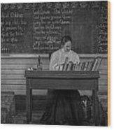 Teachers Rules  Wood Print