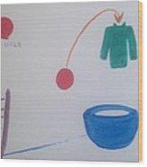 Teacup Ball Wood Print