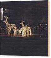 Teakwood Island Reindeer Wood Print