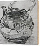 Teapot Reflections Wood Print