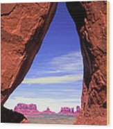 Teardrop Arch Monument Valley Wood Print