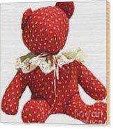 Teddy Bear Of Love Wood Print