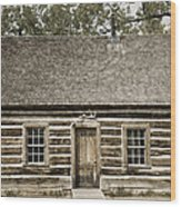 Teddy Roosevelt's Maltese Cross Log Cabin Retro Style Wood Print