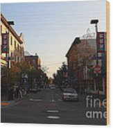 Telegraph Avenue At Bancroft Way In Berkeley California  . 7d10174 Wood Print