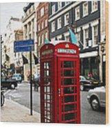 Telephone Box In London Wood Print