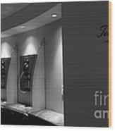 Telephones On Wall Wood Print