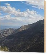 Telescope Peak And The Valley Wood Print
